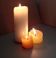Three Round Church Candles by DarkenedHeart-Stock