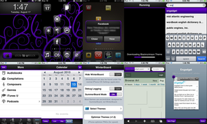 purple and black iphone UI by gravedesires777