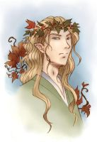 Thranduil portrait by greenapplefreak