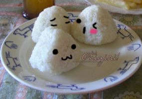 My first onigiri by xHoneydrug