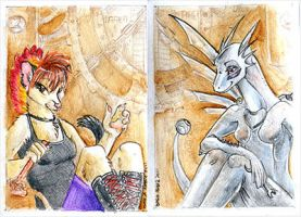 : ACEO Diptich : by dar-a