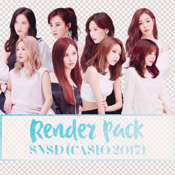 170402 /// [RENDER PACK] SNSD (CASIO 2017) by NhataiLe