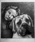 Girl and Her Dog by Khaotis