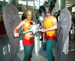 WC12-Hawkwoman 'n Hawkman by moonymonster