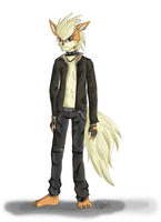 Anthro Arcanine by Carn-the-Wolf
