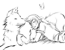 Link sleeping on Link... by tyrranticus