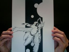 Hawkgirl sketch by onecoyote