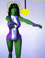 She-Hulk Hypnotized by The-Mind-Controller