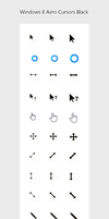 Windows 8 Aero Cursors Black by nuuvo