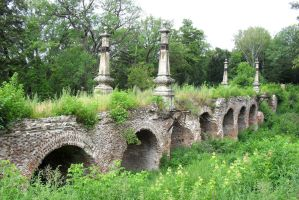 Old bridge-viaduct in the park of Kiritsy by Ferrabra