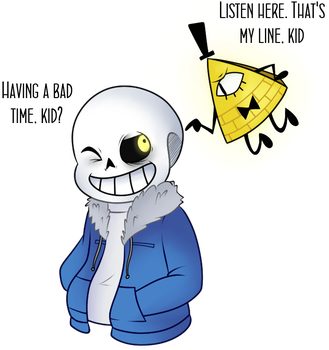 Sans and Bill by FeatherLetters