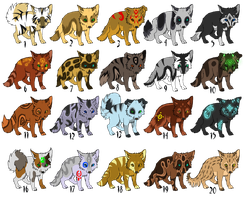Adoptables Canine puppies (OPEN) by TaraviAdopts