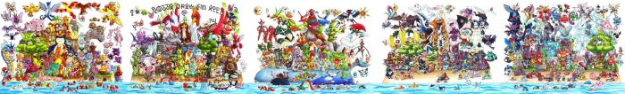 All 649 Pokemon: Gotta Draw Em All by Fishenod