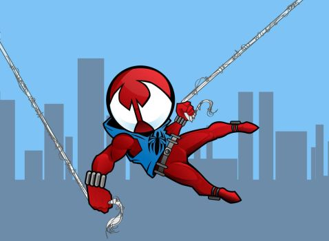Scarlet Spider chibi by CrimsonStar6