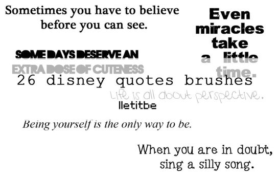 Disneyquotes brushes. by lletitbe