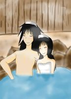 A day at the onsen_Request by nasaku