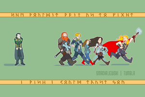 Thor and Friends, And Loki  Too by SMachajewski