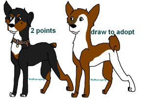Canine adoptable's 2 open by Wolfhorsegirly