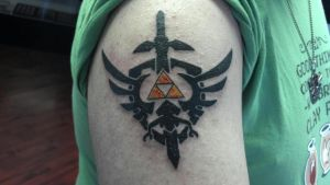 Legend of Zelda Tattoo-Early Picture by Megamike444