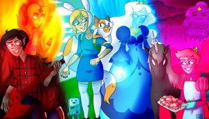 Adventure Time With Fionna and Cake by EllytheQueen