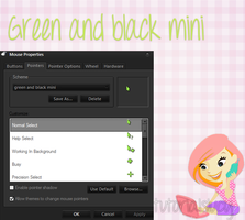 cursor Green and black mini by tutorialslucy