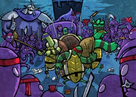 Ninja Turtles Showdown by Hanogan