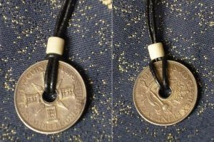 Silver Shilling Pendant by aequinox