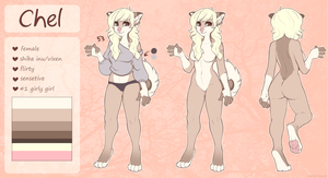 anthro chel reference (fursona) by foxpets