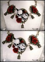 Skull of a Chimera Necklace by Necrosarium