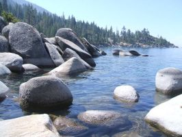 Rocks on the Lake by peacetree7