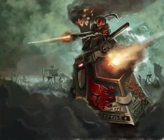 Warhammer:Invasion Steamtank by DavidSondered