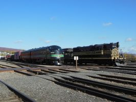 Fifties Diesels in Scranton by rlkitterman