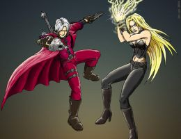 Dante and Trish by botmaster2005