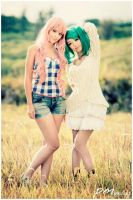 Sheryl Nome and Ranka Lee by angelace9