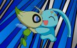 Celebi and Manaphy by FezVrasta