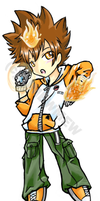 KHR - Tsuna Chibi for AB by Dj-Mewmew