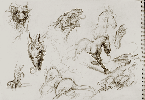 sketches by Sawitry