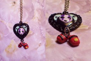 No Face Necklace by StrawberryParall