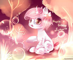 Happy birthday Fumuu! by AquaGalaxy