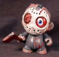 Munny Jason Friday the 13th Kid Robot OOAK Head an by Undead-Art