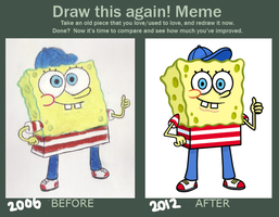 SpongeBob Junior Before and After by Allenare