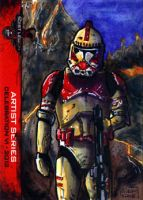 Shock Trooper sketch card 501st Legion CVI 2012 by geralddedios