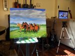 Painting commission in progress by emizael