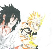 Naruto and Sasuke - A team once more! by PaleSun