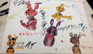 Five Nights At Freddy's painting by FallenAngelKayaxx5
