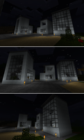 Minecraft Bauhaus Townhouses by TrantSteel