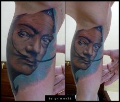 Salvador Dali by grimmy3d