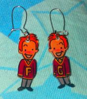 kawaii Weasley twins earrings by Lovelyruthie