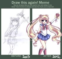 Draw this again meme: Sailor moon by Midna01