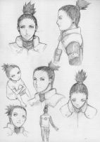 Shikamaru Quick Sketches by h-ozuno